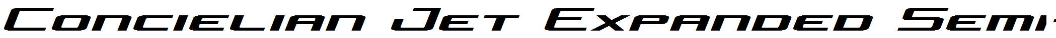 Concielian-Jet-Expanded-Semi-Italic