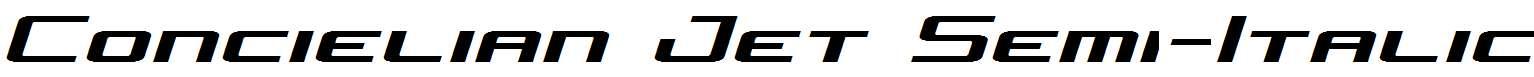 Concielian-Jet-Semi-Italic
