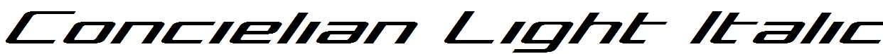 Concielian-Light-Italic