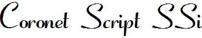 Coronet-Script-SSi-Normal