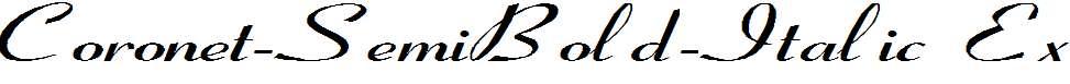 Coronet-SemiBold-Italic-Ex