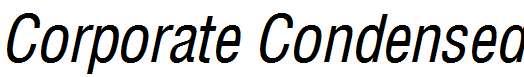 Corporate-Condensed-Italic