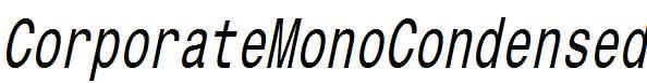 CorporateMonoCondensed-Oblique