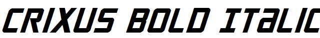 Crixus-Bold-Italic