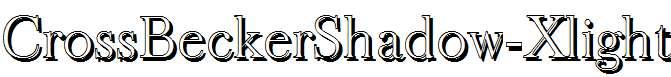 CrossBeckerShadow-Xlight-Regular