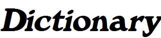 Dictionary-Italic