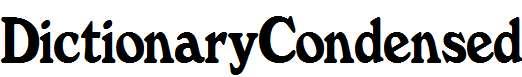 DictionaryCondensed-Normal