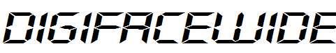 DigifaceWide-Italic