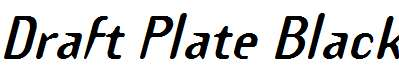 Draft-Plate-Black-Italic