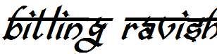 bitling-ravish-Bold-Italic